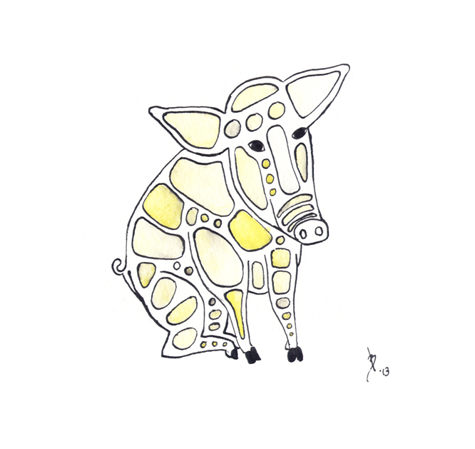 Simon Littlebottom MacPhalentire the Fifth, a piglet
