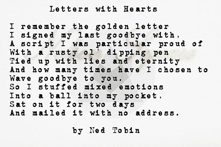 Letters With Hearts by Ned Tobin