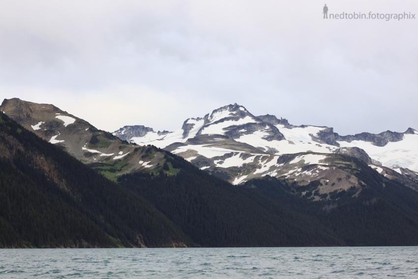 Garibaldi lake in Garibaldi Provincial Park near Whistler, BC